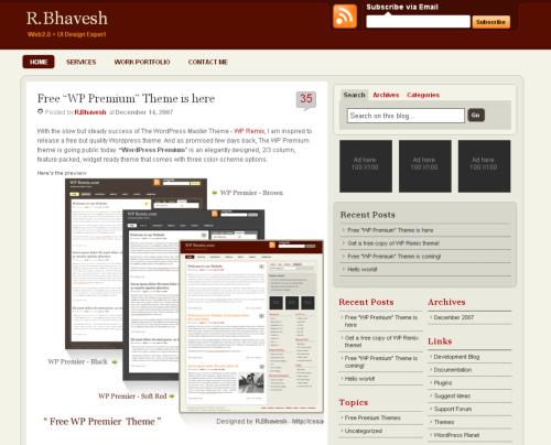Bhavesh WordPress Premium Thème