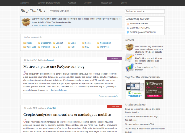 Nouveau Blog Tool Box