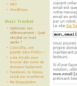Buzz Tracker sur Blog Tool Box