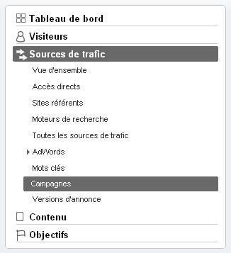 Campagne publicitaire Google Analytics