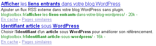 Exemples balise meta description