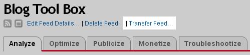 Transfer FeedBurner