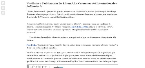 Le Monde - Readability