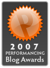 Performancing Awards 2007