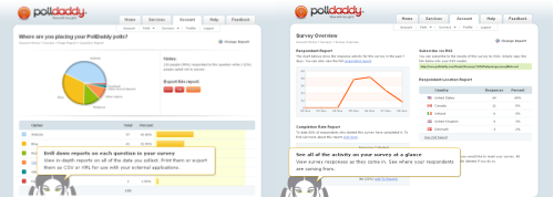 Interface administration PollDaddy
