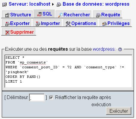 Tirer un article au hasard via MySQL